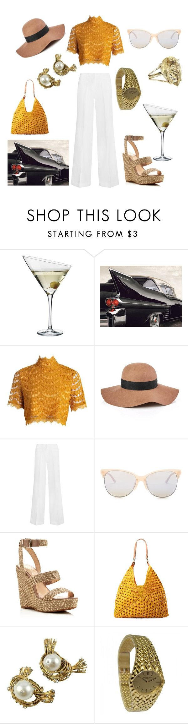 """a nod to the 50s"" by mrs-beany ❤ liked on Polyvore featuring Eva Solo, Reiss, MICHAEL Michael Kors, Smith Optics, Vince Camuto, Mar y Sol, Chanel, Audemars Piguet and Vintage"