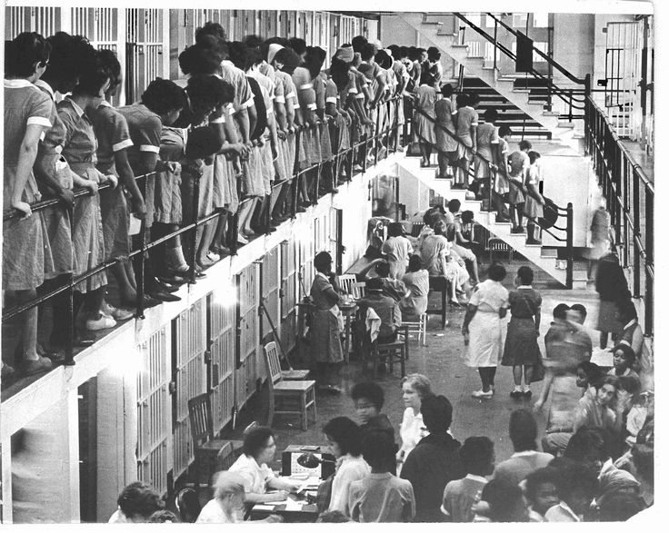 Students are incarcerated in Baltimore City Jail in 1964 for protesting segregation at a local theater.
