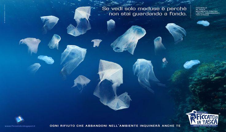 plastica come medusa
