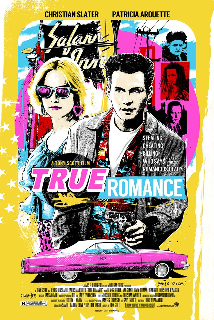 "True Romance by James Rheem Davis 24"" X 36"" 7 colour screen print featuring metallic inks, edition of 200. Available HERE."