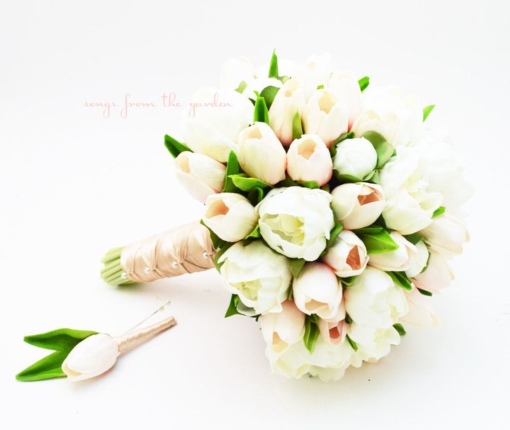 Excited to share the latest addition to my #etsy shop: Peonies & Tulips Bridal Bouquet - Real Touch White Peonies Blush Tulips - Blush White Bridal Bouquet - Choose Your Ribbon http://etsy.me/2CljaI1 #weddings #bouquet #bride #peonies #peonybouquet #weddingbouquet
