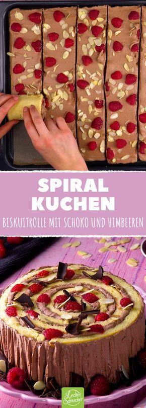 Biskuitrolle mit Himbeeren wird bestimmt schnell ein Lieblings-Kuchen-Rezept!