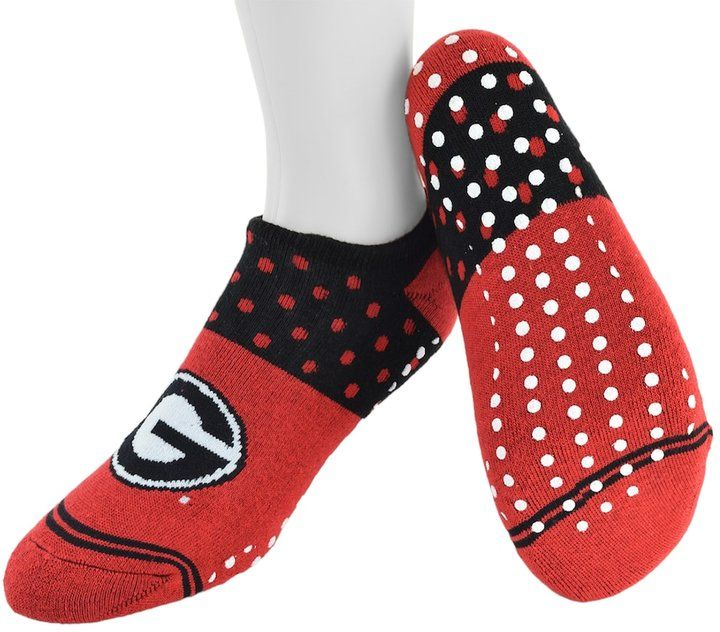 Mojo Women's Mojo Georgia Bulldogs Speckled No-Show Grip Socks