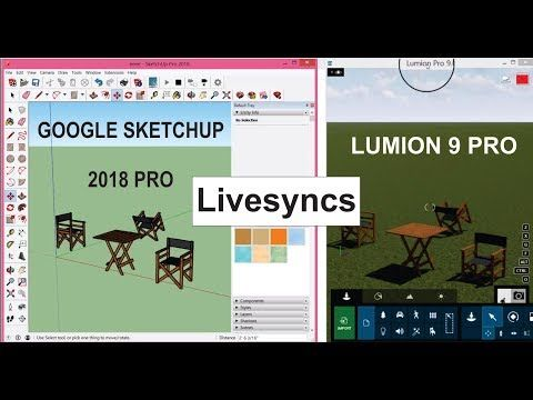 How to livesync google sketchup to lumion 9 pro in urdu