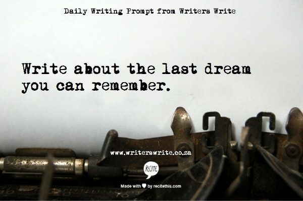 Daily Writing Prompt from Writers Write
