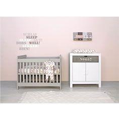 Babyflex Basicwood bed 60x120 gravelwash