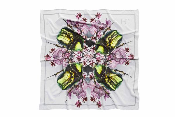 SILK SCARF • ORCHID BEETLE - House Of Cannon