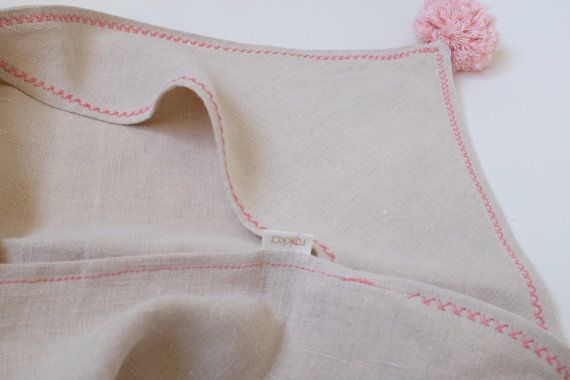 Hemp Hooded Baby Towel 100% Hemp Baby Bath Towel by RokkaDesign