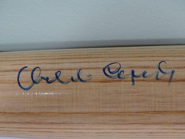 Orlando Cepeda Autographed Bat COA Cardinals Giants Hall of Famer Puerto Rican
