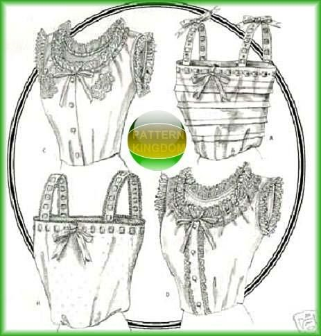 Historical Camisole Victorian Lingerie Patterns