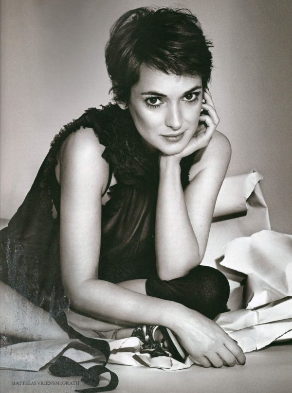 This woman and her short hair is the reason why I have short hair. I love Winona!