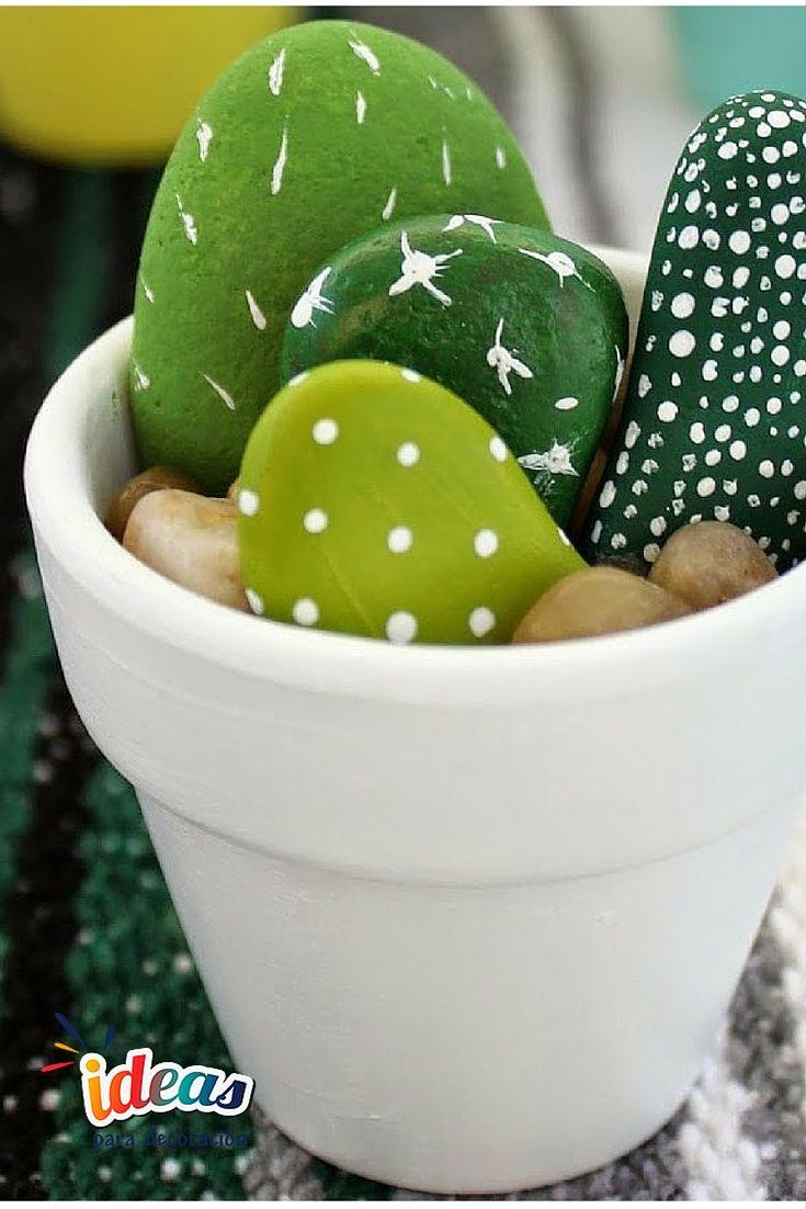 ¡Decora tu #Hogar con unos hermosos cactus!#DIY