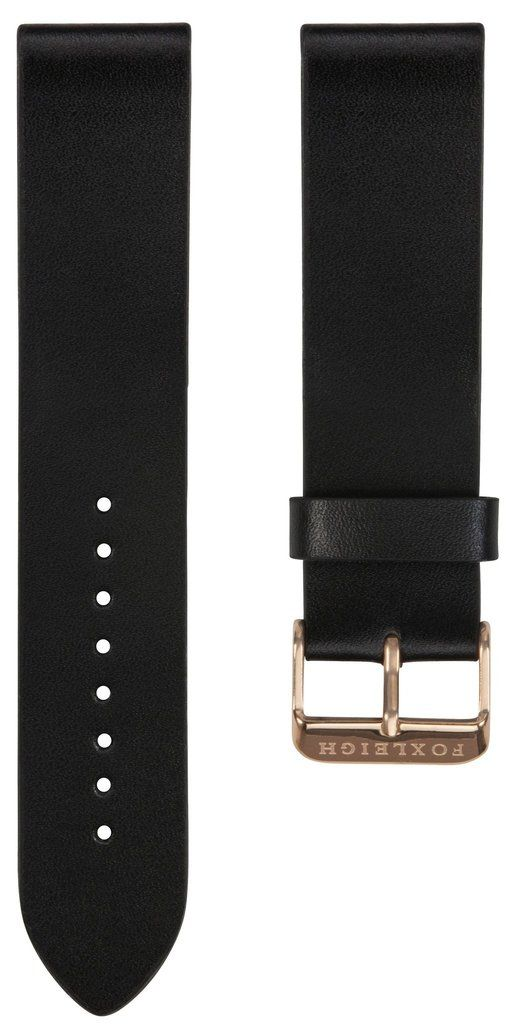 Straps - Black With Rose Gold Buckle