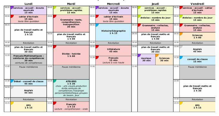emploi du temps prévisionnel - CM1 - CM2 - 2016-2017