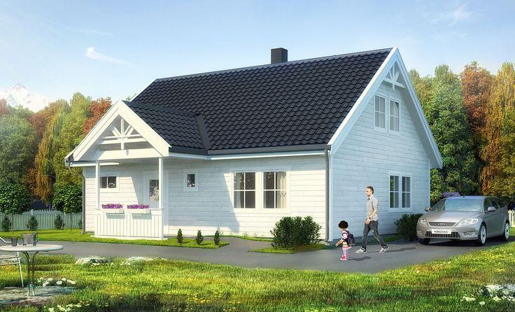 Tua er et hus med muligheter for store og små. Det er en arealeffektiv enebolig med fire soverom. Boligen har eget kjøkken med spiseplass, og fra stua er det direkte utgang til uteplass som bør ligge mot sør/vest. Kjøkken, stue, bad og et soverom i 1. etasje. http://www.norgeshus.no/hus/tua/