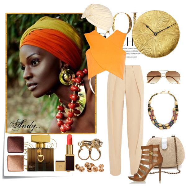 """orange and beige!!!"" by andyts on Polyvore"