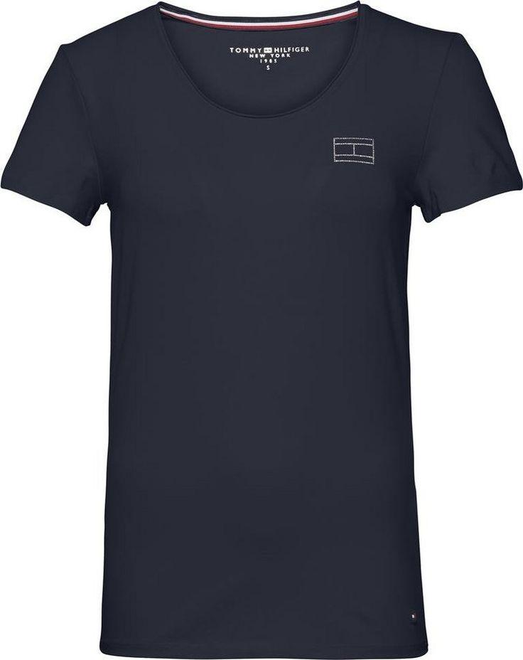 Tommy Hilfiger T-Shirt »LIZZY LOGO DIAMANTE ROUND-NK TOP SS«