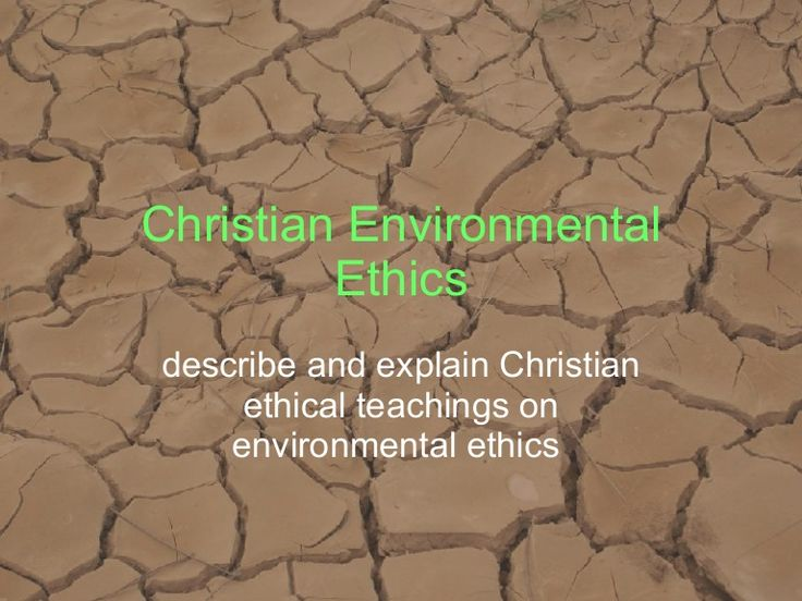 The Principles underlying environmental ethics in Christianity.  For my lovely 2U SOR Students.