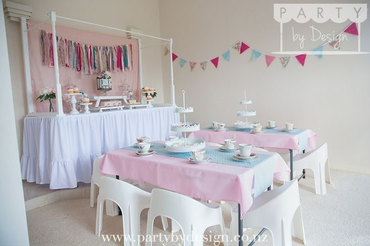 Vintage Tea themed children's party package. Contact us at party@partybydesign.co.nz.