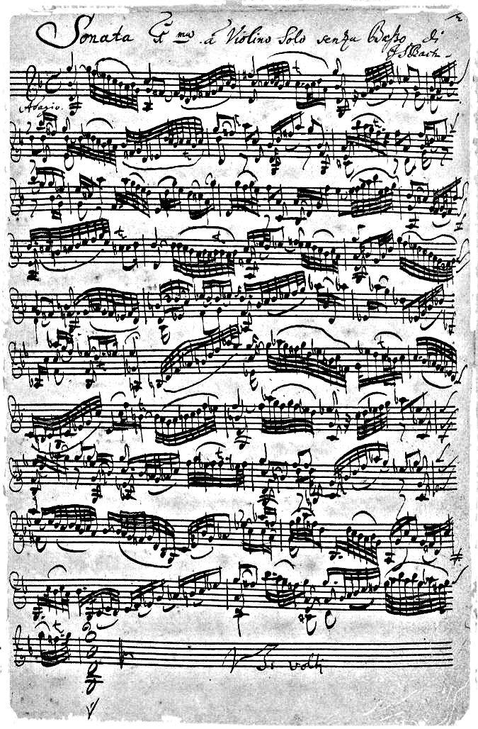 Johann Sebastian Bach - Kunst in Noten