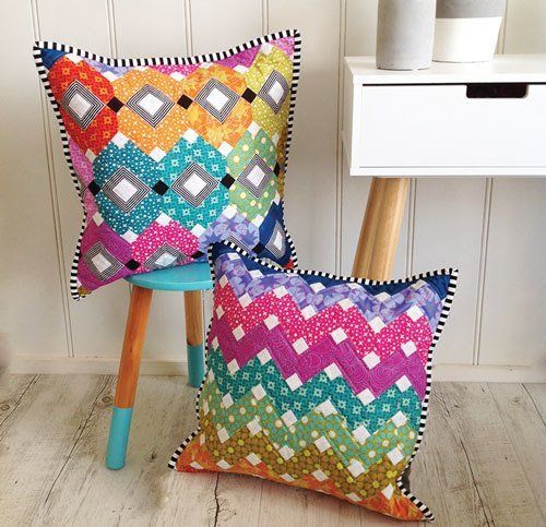 """""""Bejeweled Cushions & EPP Papers"""" designed by Sharon Burgess for Lilabelle Lane."""
