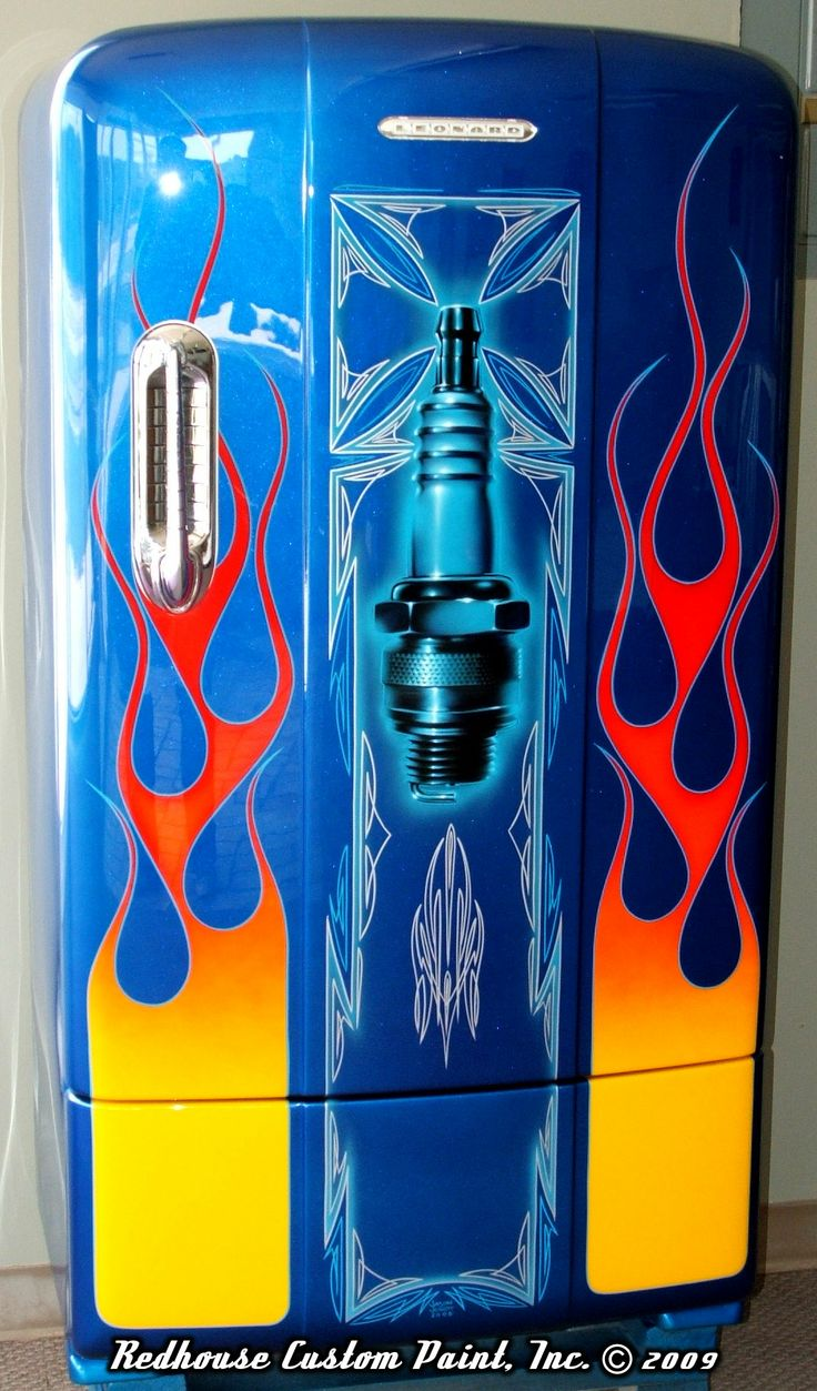 54 Best Cool Fridges Images On Pinterest Airbrush Art