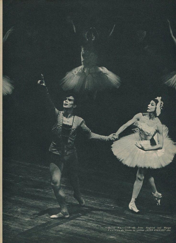 Die Bühne, Rudolf Nurejew & Margot Fonteyn, Schwanensee1964 | eBay
