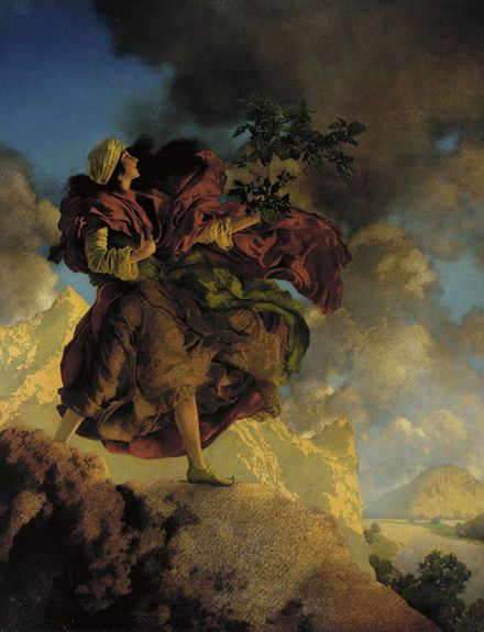 From Wikiwand: Princess Parizade Bringing Home the Singing Tree from Arabian Nights, 1906, oil on paper
