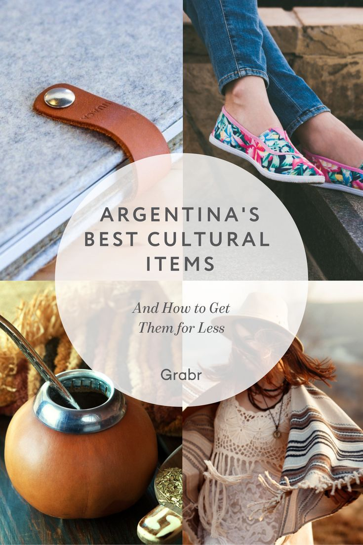 Wine, Alpargatas Shoes, Leather, Dulce de Leche, Ponchos, and Mate are just some of the great cultural items you can get from Argentina with Grabr.io