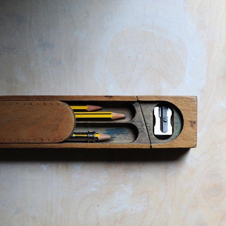 vintage pencil case More