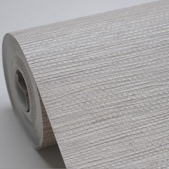 Faux Woven Textured Natural Grasscloth Wallpaper Cream Grey Silver String Linen Vinyl Wallpaper Designer Grass Cloth Wallpaper