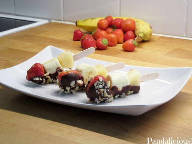 healthy banana split  -  Kevyempi herkku