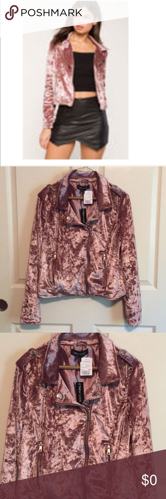 Addt'l pics of blush velvet moto jacket 🧥 NWT Brand New