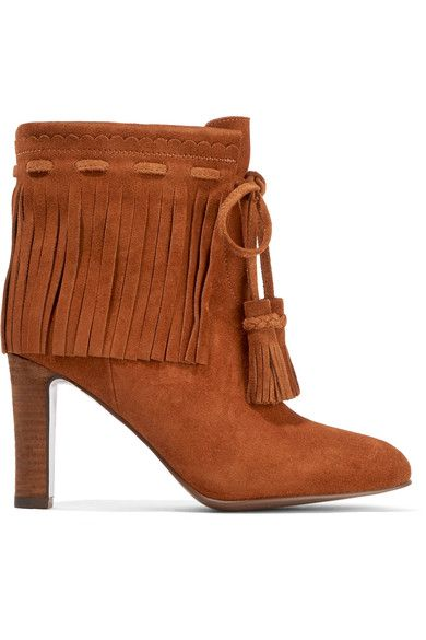 See by Chloé - Fringed Suede Ankle Boots - Tan - IT40.5
