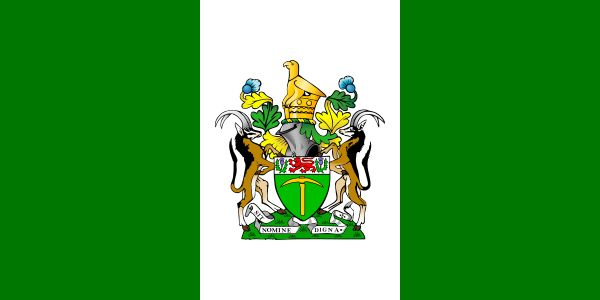 """For those too young to not know, this was the Rhodesian Flag, the """"Green and White"""", the only British Colony to have declared UDI (Unilateral Declaration of Independence) from the British Empire, 11 November 1965 . At the time I was two months old. Rhodesia then became isolated from the rest of the world, although the country prospered under self governance, at the time it was known as the """"Bread Basket of Africa"""" for its advanced  Agricultural capacity to export to neighboring countries."""