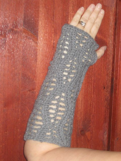 Ravelry: CandidQuilts' Opera Gloves Mittens in Summer Wave Stitch Fingerless with Short Version Hand Fastening Fasting Wicca Pagan Wedding