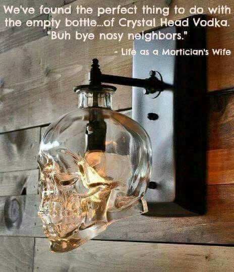 Empty liquor bottle... More                                                                                                                                                                                 More