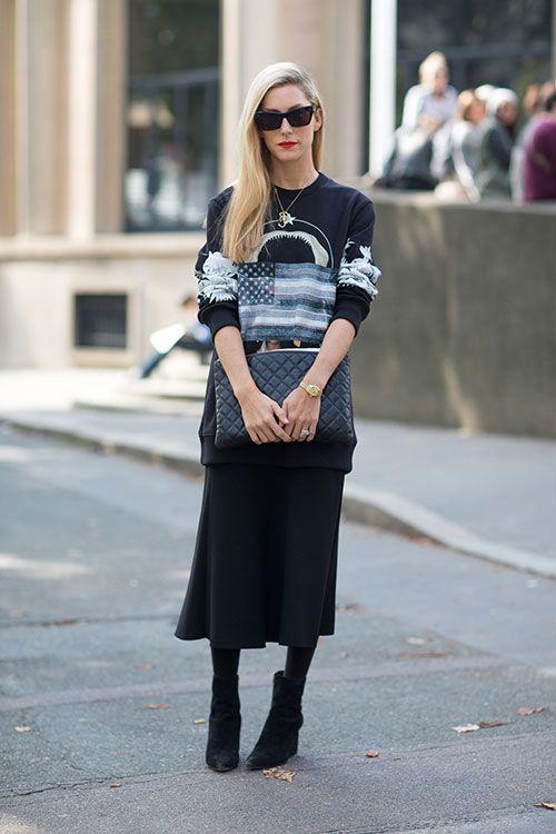 Street Style: Paris Fashion Week Spring 2014 - Joanna Hillman in Givenchy