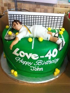Tennis cake - For all your cake decorating supplies, please visit craftcompany.co.