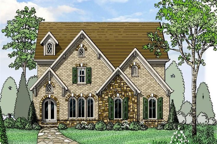 American gables the newcastle this english inspired for American brick and stone