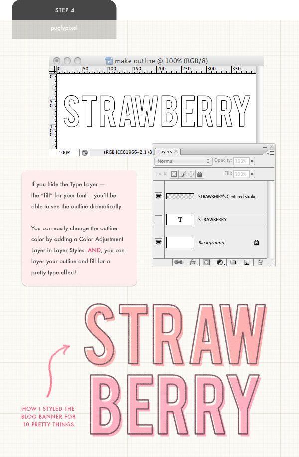 outline a solid font.
