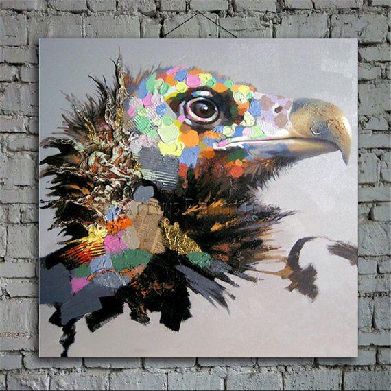 affordable item detail product pop art animal funny art eagle size with tableau pop art animaux. Black Bedroom Furniture Sets. Home Design Ideas