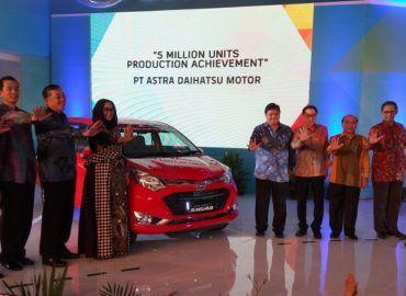 Perayaan pencapaian 5 juta unit produksi Daihatsu