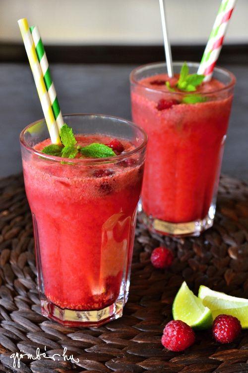 The best homemade raspberry lemonade with vanilla. YUM! | A legjobb házi málnaszörp: Vaníliás málnafröccs Segal Viktor receptje alapján