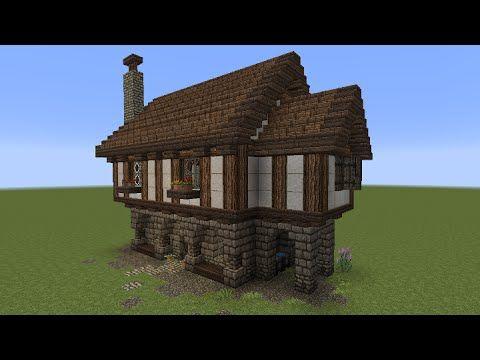 Minecraft Tutorial - Kleines Haus (mittelalterlich) - YouTube