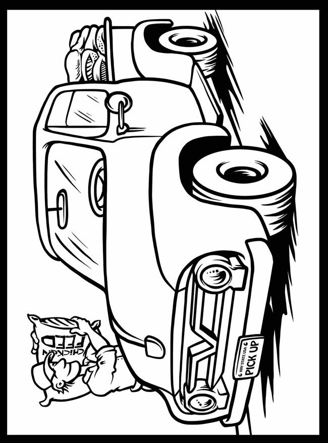 1954 chevy truck coloring pages sketch coloring page