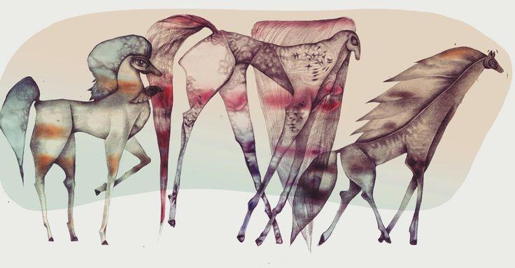 #artsy #instaartsy #drawing #illustrator #illustration #iuliaignatillustration #lmrignat #behancereviews #behance #drawingoftheday #artoftheday #illustagram #story #horses #horsesofinstagram #pencil #mixedmedia #watercolor