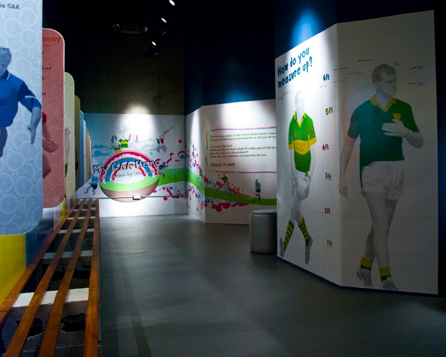 My GAA Hero exhibition design. Not sure what GAA is, but it looks colourful!