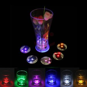 3 LED Flashing Lights Bulb Bottle Cup Mat Coaster For Clubs Bars Party KTV BAR | eBay