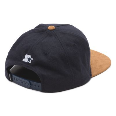 f989b9e7d8 Mini Full Patch Starter Snapback Hat X39I53 Dress Blues-Brown  Vans ...